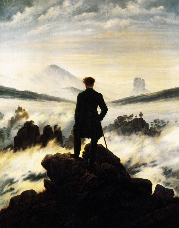 C.D.Friedrich, Le voyageur contemplant une mer de nuages,1818