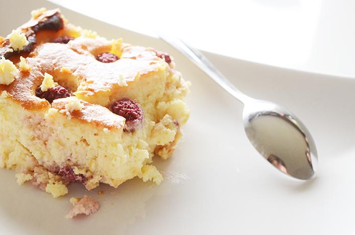 cheescake framboises et chocolat blanc