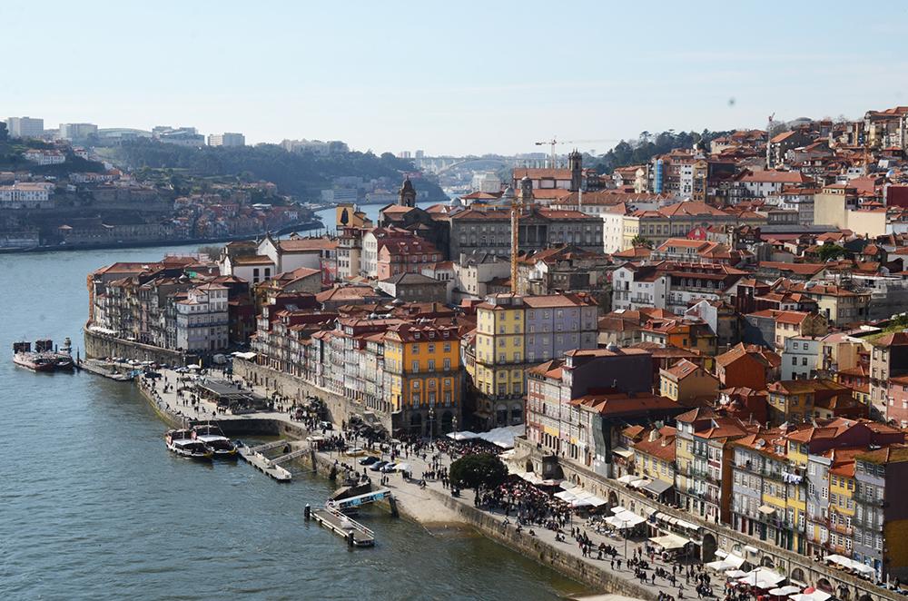 weekend portugal porto fernande et rené porto vue ribeira pont