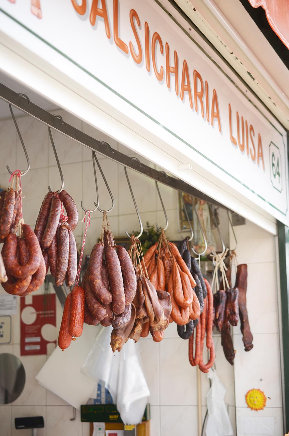 weekend portugal porto fernande et rené saucisses marché