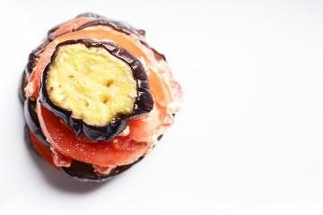millefeuille aubergines poivrons fernande et rené recette entrée