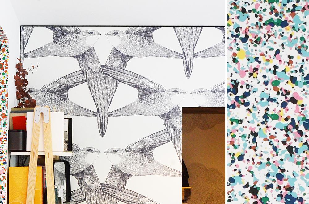 bien fait papier peint oiseaux. Black Bedroom Furniture Sets. Home Design Ideas