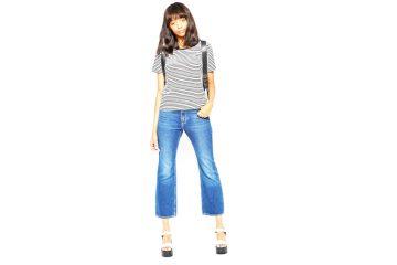 le flare court jean tendance mode