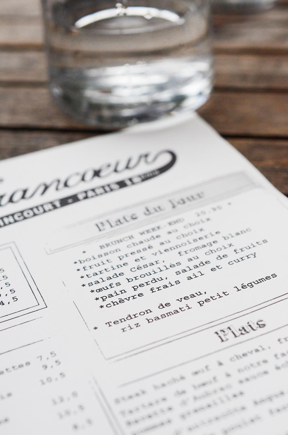 Brunch au Café Francoeur paris 18eme restaurant fernande et rené